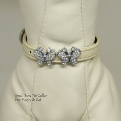 Dog Cat Collar, Leather, Charm, XS Collars,  Puppy collars, Cat Collar, kitten collar, Charm Butterfly