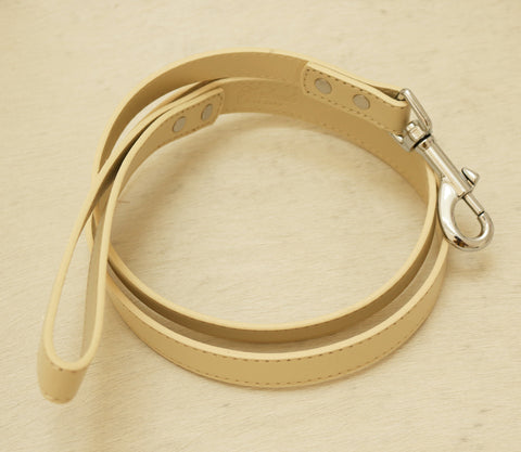 Ivory dog Leash, Pet accessory, Ivory Leather leash