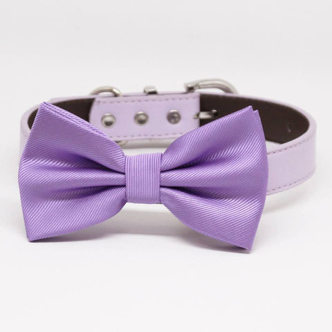 Lavender Dog Bow tie collar, Pet wedding Accessory, Puppy Love, Birthday Gift