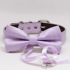 Lilac Dog Bow Tie ring bearer, Pet Wedding accessory, Marry Me, Proposal idea, Chic