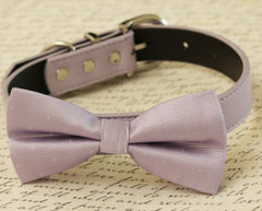 Lilac Dog Bow Tie Collar, Pet wedding accessory, Lilac wedding ideas