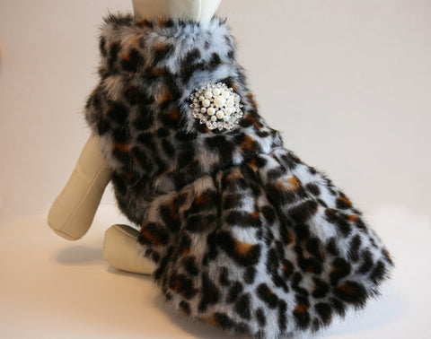 Leopard Dog Coat, clothing, Jacket, Pets Dress, Birthday gift , Wedding dog collar