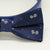 Navy Dog Bow Tie Collar, Navy dog collar,Handmade, leather dog collar , Wedding dog collar