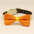 Yellow Orange Dog Bow Tie collar, Pet accessory , Wedding dog collar