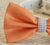 Orange and Gray Dog Bow Tie, Pet Wedding accessory, Orange wedding idea, Dog Birthday Gift, Summer Wedding - LA Dog Store  - 2