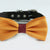 Burnt orange burgundy bow tie collar, handmade Puppy bow tie, XS to XXL collar and bow adjustable dog of honor ring bearer, orange burgundy