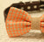 Peach dog bow tie, Bow attached to brown dog collar, burlap wedding, Pet Wedding accessory, Country Rustic wedding, Dog lovers - LA Dog Store  - 2