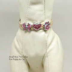Dog Cat Collar, Leather, Charm, XS Collars,  Puppy collars, Cat Collar, kitten collar, Pet collar, Heart, Butterfly, Paw