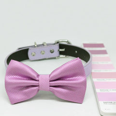 Pink Lavender dog bow tie collar, Color of the Year PANTONE 14-3207, Pet wedding, Handmade Gifts