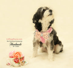 Dog Harness,Lace Bow Puppy Gift, photo