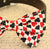 Dog bow tie, bow attached to dog collar, Hearts Diamonds, Black and Red, Poker, Alice In Wonderland, Dog lovers, Playing card, Dog collar - LA Dog Store  - 2
