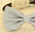 Gray bow tie collar XS to XXL collar and bow tie, adjustable, Puppy bow tie, handmade, dog of honor ring bearer