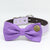 Purple Polka dots Dog Bow Tie collar, Purple wedding accessory , Wedding dog collar
