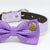 Purple Polka dots Dog Bow Tie collar, Purple wedding accessory