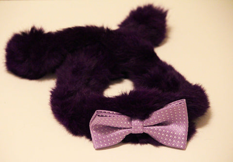 Purple Dog Shawl, Purple Shaw with Cute Purple Bow, Cute Chic Dog Accessory, Dog Scarves , Wedding dog collar