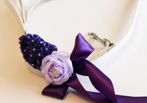 Purple Lavender wedding, Custom dog Leash, Wedding accessory, Purple wedding accessory, Dog Leash