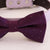 Purple bow tie collar XS to XXL collar and bow tie, adjustable, Puppy bow tie, handmade, dog of honor ring bearer