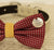 Red Dog Bow Tie, Bow attached to dog collar, Pet wedding accessory, dog birthday gift, Red and Yellow, Live, Love, Laugh, Polka dots - LA Dog Store  - 2