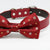 Dog Red Bow tie collar, Gift, Dog birthday, Pet wedding accessory, Flower Prints bow tie