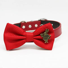 Red Dog bow tie collar, Alice In Wonderland, Puppy lovers, Rabbit, Birthday gifts