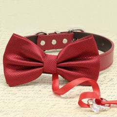 Red Bow Tie Ring Bearer dog Collar, Pet Wedding, Proposal, Puppy Love, Christmas Gifts