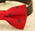 Red Dog Bow Tie collar, bow attached to dog collar, Red bow, pet wedding accessory, dog collar, dog lovers, skull, halloween, Red and Navy - LA Dog Store  - 2