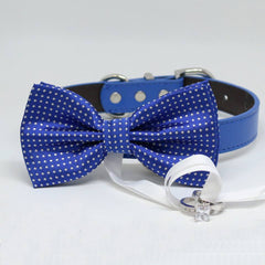 Royal Blue Dog Bow Tie ring bearer, Pet Wedding accessory, Marry Me, Proposal idea, Chic , Wedding dog collar
