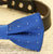Royal Blue dog bow tie collar-Bow attached to dog collar, Some thing blue, Pet wedding accessory, Dog lovers, Dog collar - LA Dog Store  - 2