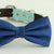 Navy bow tie collar, handmade Puppy bow tie, XS to XXL collar and bow adjustable dog of honor ring bearer