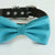 Scuba blue bow tie collar XS to XXL collar and bow tie, adjustable, Puppy bow tie, handmade, dog of honor ring bearer, Blue bow tie collar