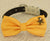 Yellow Dog Bow tie, Bow attached to dog collar, beach, Dog birthday gift, Pet wedding accessory, Polka dots bow, Yellow, Beach Star, Pearl - LA Dog Store  - 2