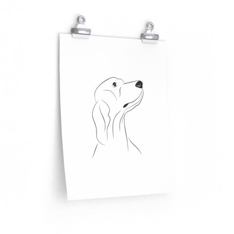 Dog, Wall Art Prints, Printed on paper, Line Drawing, Minimalist Print, Premium Matte vertical posters , Wedding dog collar