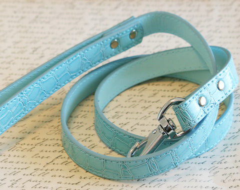 Blue Leash, Blue Pet Accessories , Wedding dog collar