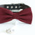Burgundy bow tie collar Leather collar dog of honor ring bearer adjustable handmade XS to XXL collar and bow, Puppy bow collar, Proposal
