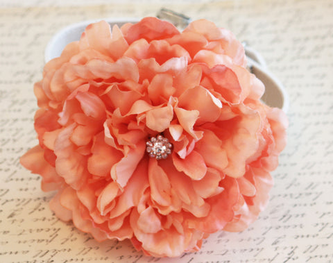 Coral Wedding Dog Collars- Coral Floral Dog Collar, Pet wedding accessory, Dog Lovers