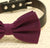 Eggplant dog bow tie, Bow attached to dog collar, Eggplant wedding accessory, dog collar, dog birthday gift, Purple wedding - LA Dog Store  - 2