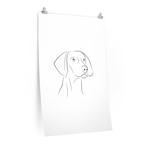 Dog, Wall Art Prints, Printed on paper, Line Drawing, Minimalist Print, Premium Matte vertical posters