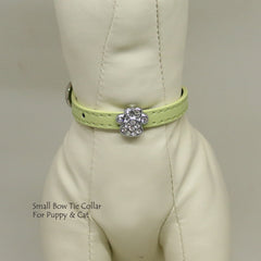 Dog Cat Collar, Leather, Charm, XS Collars,  Puppy collars, Cat Collar, kitten collar, Charm Paw