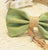 Green and burlap Dog Bow Tie, Dog ring bearer, Pet Wedding accessory, Burlap Wedding, Rustic wedding accessory - LA Dog Store  - 2