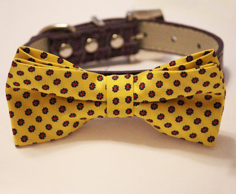 Yellow Dog Bow Tie wedding collar, Chic and Elegent, Wedding Dog Accessory
