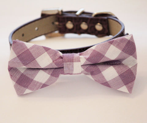 Lavender Dog Bow tie, dog collar,  Dog wedding Accessory , Wedding dog collar