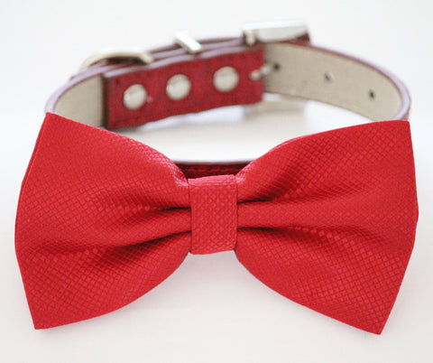 Red dog Bow tie collar, Cute, Puppy Gift, Dog Lovers, pet wedding , Wedding dog collar