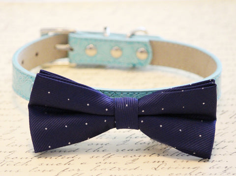 Blue Dog Bow Tie, Day and Night, Wedding dog accessory, blue wedding pet collar , Wedding dog collar