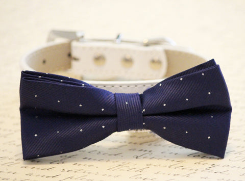 Navy Dog bow tie, wedding dog accessories, Blue wedding ideas , Wedding dog collar