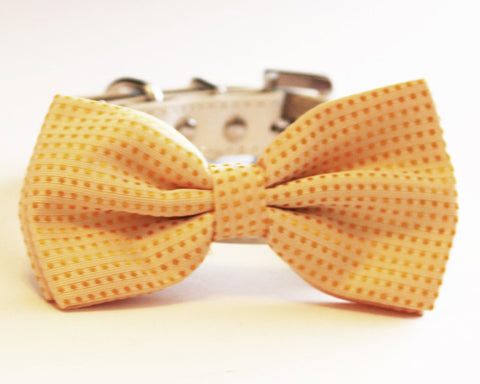 Corn Yellow Dog Bow Tie collar, wedding pet accessory