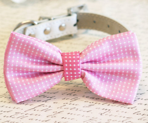 Pink Dog Bow Tie, Pet Accessory, Dog Birthday, Pink Lovers, Cute Dog bow tie , Wedding dog collar