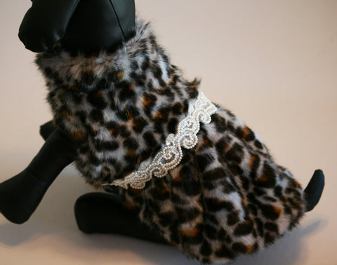 Leopard Dog Coat, Chic, classy, dog clothing, Jacket