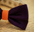 Orange and Purple wedding accessory, Purple Dog Bow Tie, Pet Wedding accessory, Orange wedding idea, Dog Bow tie - LA Dog Store  - 2