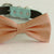 Peach bow tie collar Leather collar dog of honor ring bearer adjustable handmade XS to XXL collar and bow, Puppy bow collar, Proposal