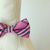 Carmine rose Check plaid  bow, Small bow tie collar, Puppy Collar, Cat collar, Cat bow tie collar, Leather, Handmade, Cat bow, XS Collar,